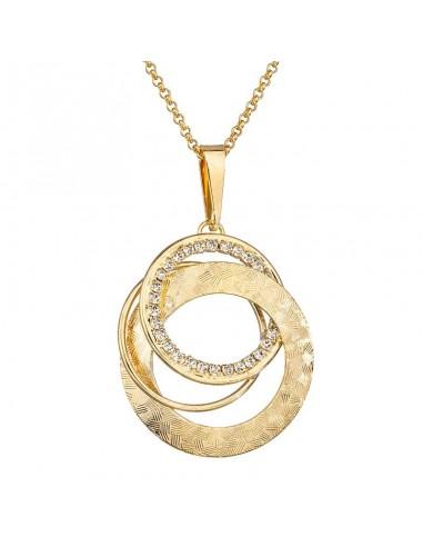 Collier 3 Cercles Mix Or Cristal de...