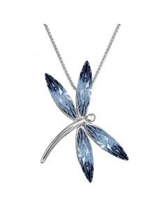 Collier Libellule bleu...