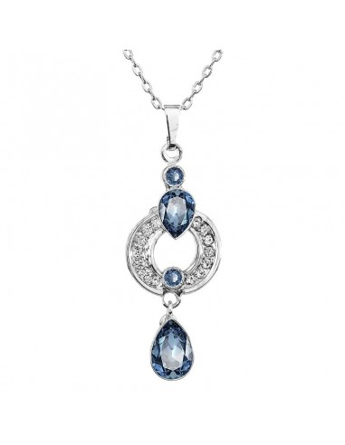 Collier Cristal de Swarovski Bleu...