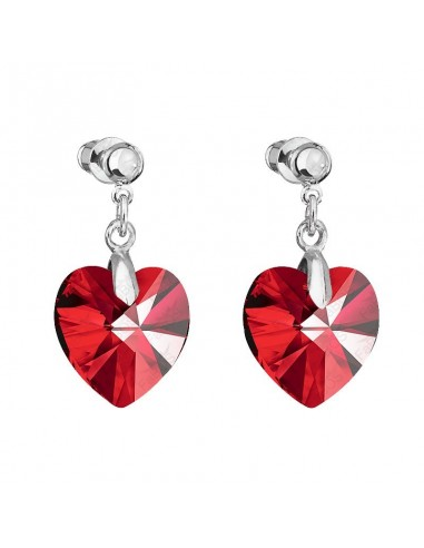 Boucles coeur light siam Cristal de...
