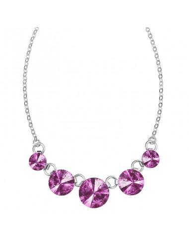 Collier Rivoli Violet Cristal de...